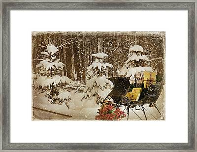Christmas Delivery Framed Print by Maria Dryfhout