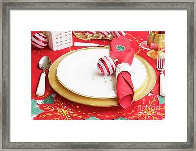 Christmas Dinner Framed Print