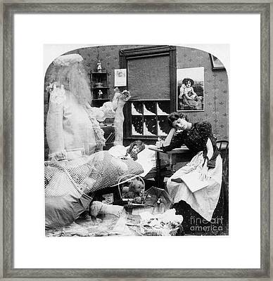 Christmas Dream, C1897 Framed Print by Granger