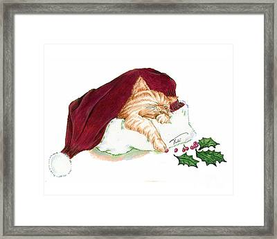 Christmas Dreamer Framed Print by Tobi Czumak