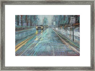 Christmas Drive Framed Print by Donald Maier