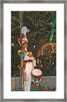 Christmas Drummer Framed Print by Barbara McDevitt
