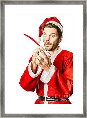 Christmas Elf Writing To Do List For Santa Framed Print by Jorgo Photography - Wall Art Gallery