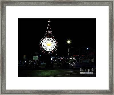 Christmas Eve 2009 Nightime At Fisherman Framed Print by Wingsdomain Art and Photography