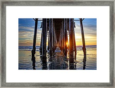 Christmas Eve At The Pier Framed Print by Ann Patterson