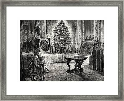 Christmas Eve At Windsor Castle Framed Print