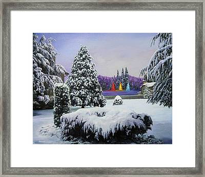Silent Night Framed Print by Richard Barone
