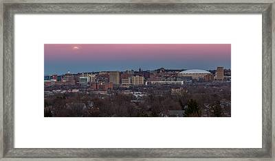 Christmas Eve Skyline Framed Print