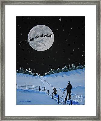 Christmas Eve Stroll Framed Print