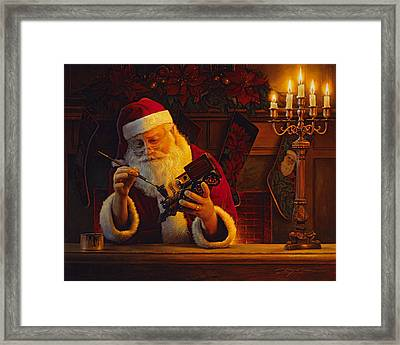 Christmas Eve Touch Up Framed Print