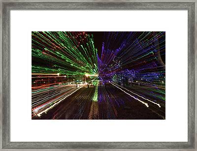 Christmas Exploding Framed Print