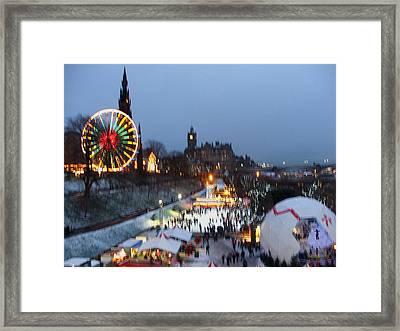 Christmas Fair Edinburgh Scotland Framed Print by Heather Lennox