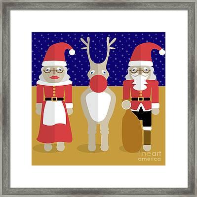Christmas Family  Framed Print