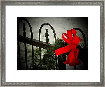 Christmas Fence Framed Print