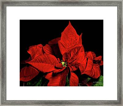 Christmas Fire Framed Print