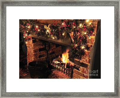 Christmas Fireplace Framed Print by Andy Smy