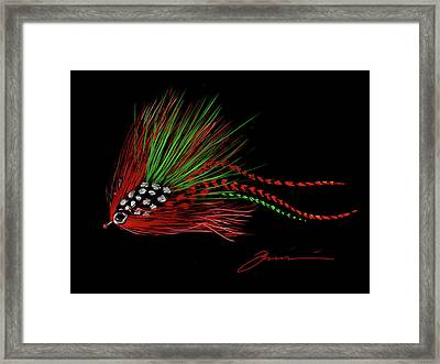 Christmas Fly Framed Print