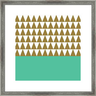Christmas Geo Green Framed Print