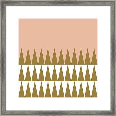 Christmas Geo Peach Framed Print