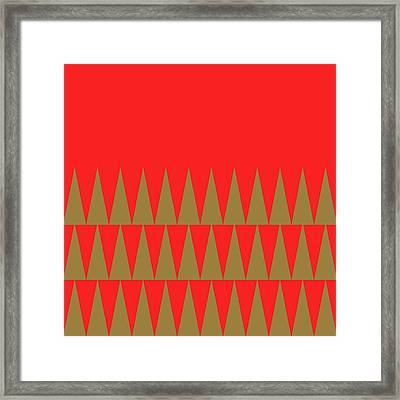 Christmas Geo Framed Print