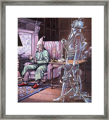 Christmas Ghost Framed Print by Pat Nicolle