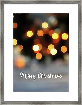Christmas Glitter- Art By Linda Woods Framed Print