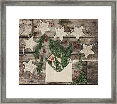 Framed Print featuring the photograph Christmas Greens by Kim Hojnacki
