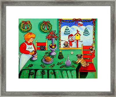 Christmas Harmony Framed Print by Lyn Cook