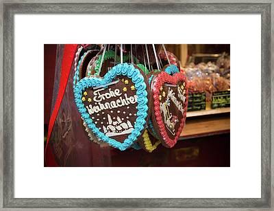 Christmas Hearts Framed Print
