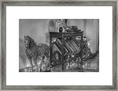 Christmas Horse Framed Print