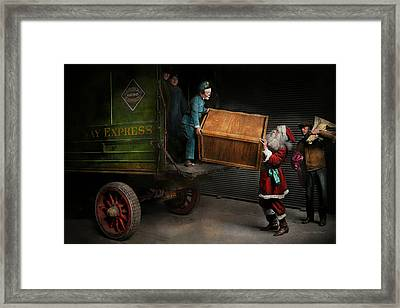 Christmas - How Santa Ruined Christmas 1924 Framed Print by Mike Savad