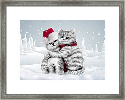 Christmas Hug Framed Print