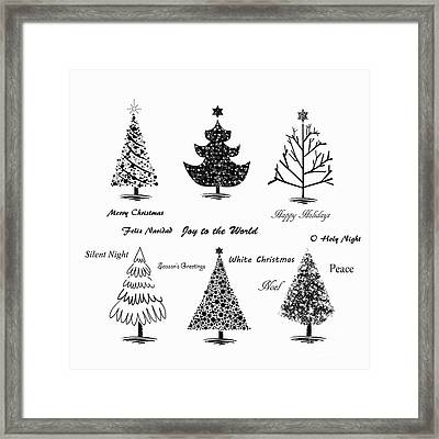 Framed Print featuring the photograph Christmas Illustration by Stephanie Frey