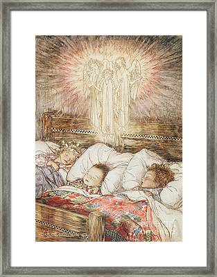 Christmas Illustrations From The Night Before Christmas Framed Print by Arthur Rackham