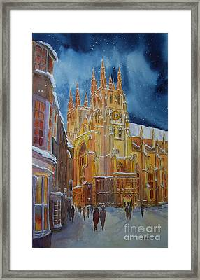 Christmas In Canterbury Framed Print