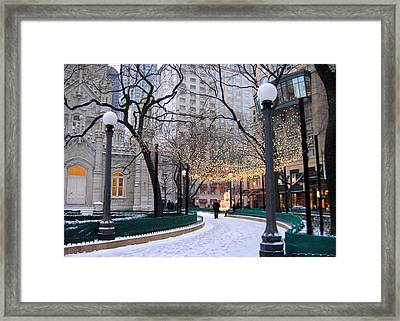 Christmas In Chicago Framed Print