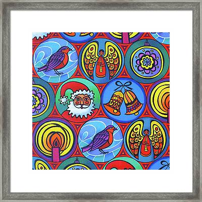 Christmas In Circles Framed Print by Jane Tattersfield