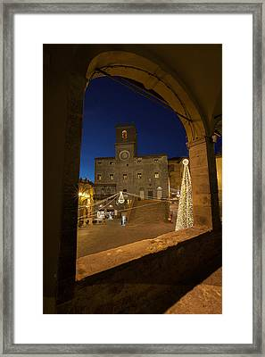 christmas in Cortona 3 Framed Print by Al Hurley