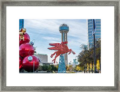 Christmas In Dallas Framed Print by Tod and Cynthia Grubbs