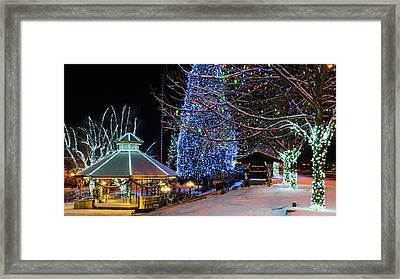 Framed Print featuring the photograph Christmas In Leavenworth by Dan Mihai