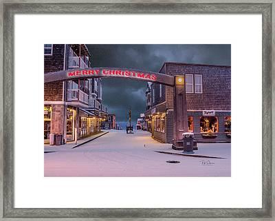 Christmas In Nye Beach Framed Print