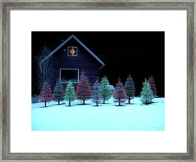 Framed Print featuring the photograph Christmas In Petersburg by Laura Wong-Rose