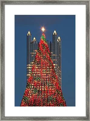 Framed Print featuring the photograph Christmas In Pittsburgh 2016  by Emmanuel Panagiotakis