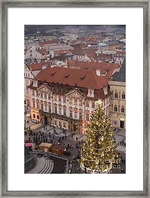 Christmas In Prague Framed Print by Juli Scalzi
