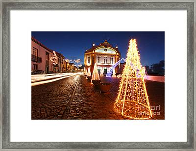 Christmas In Ribeira Grande Framed Print by Gaspar Avila