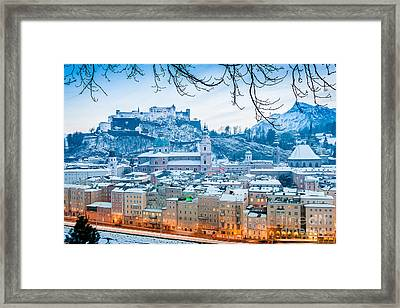 Christmas In Salzburg Framed Print by JR Photography