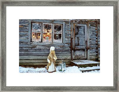 christmas in Scandinavia Framed Print by Tamara Sushko