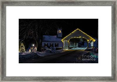 Christmas In Stark New Hampshire Framed Print
