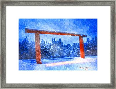 Christmas In The Mountains Framed Print by Image Takers Photography LLC - Laura Morgan