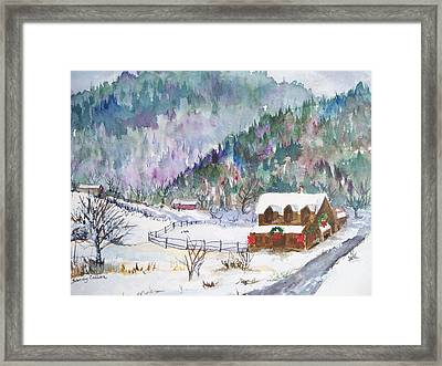 Christmas In The Mountains Framed Print by Sandy Collier